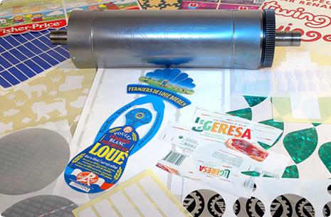 Cylindre de découpe pour étiquettes