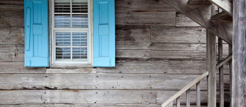 Volets écologiques sur une maison